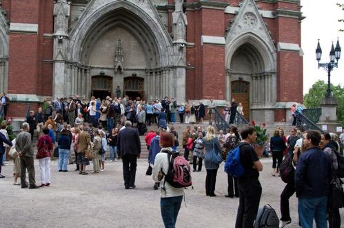 Vuoden 2012 Hengelliset syventymispäivät Johanneksen kirkolla Helsingissä. Kuva Erkki Jokinen.